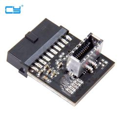 USB 3.1 Front Panel Socket to USB 3.0 20Pin Header Male Extension cable adapter for Motherboard card