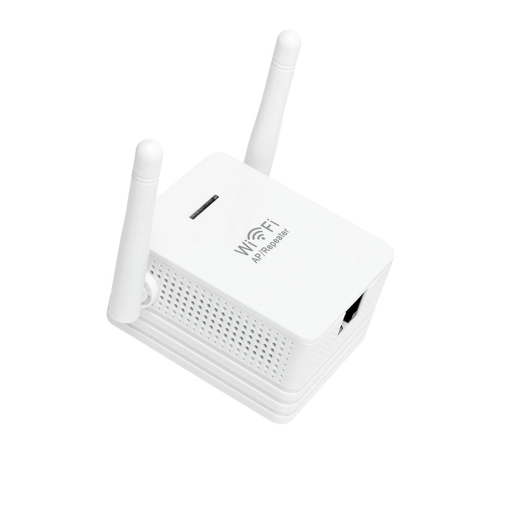 White WiFi Range Extender 300Mbps WiFi AP/Repeater Dual External Antennas US EU UK WPS Button For Security Encryption