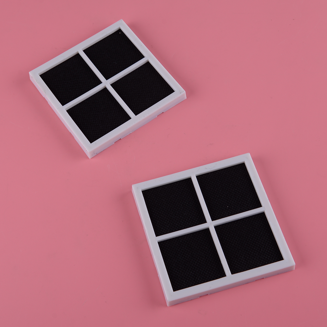 New 2pcs 8.1x8.1x0.8cm Refrigerator Air Filter Fit For Kenmore Elite 469918 LG LT120F ADQ73214402 ADQ73214403