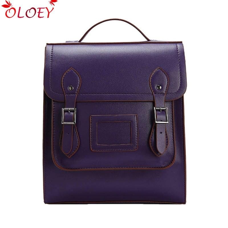 2020 Vintage Women Backpack High Quality Leather Brand Female Black Shoulder Bag Lady Multifunction Backpack Hot School Bags XHB