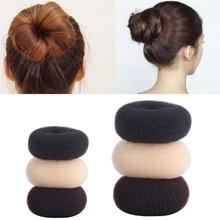 Лидер продаж, модные аксессуары для пучка волос, пучок с пончиком для женщин, инструменты для укладки волос, черные/коричневые пучки TSLM1