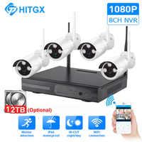 Sistema de cámara de videovigilancia CCTV inalámbrico kit 1080P ip NVR kit cámara ip sistema de seguridad al aire libre Kit de videovigilancia