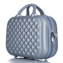 Professional Beauty ABS เครื่องสำอางค์สำหรับผู้หญิงกระเป๋าเครื่องสำอางค์กระเป๋าเดินทางแต่งหน้ากรณีแต่งหน้ากล่องกระเป๋า 14 นิ้ว