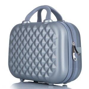 Image 1 - Professionale di bellezza ABS caso Cosmetico Per Le Donne sacchetto Cosmetico Dellorganizzatore di viaggio valigia caso di trucco Delle Donne scatola di trucco borse 14 pollici