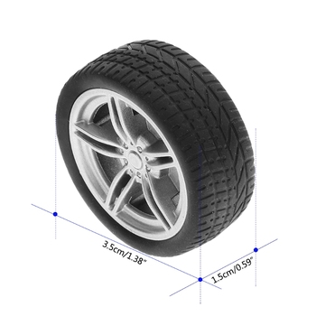 4pcs Simulation Rubber Wheel Tire Wheel Toy Model DIY RC Spare Parts Y4QA image