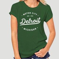 Clássico retro vintage detroit michigan motor city T-Shirt-0810A