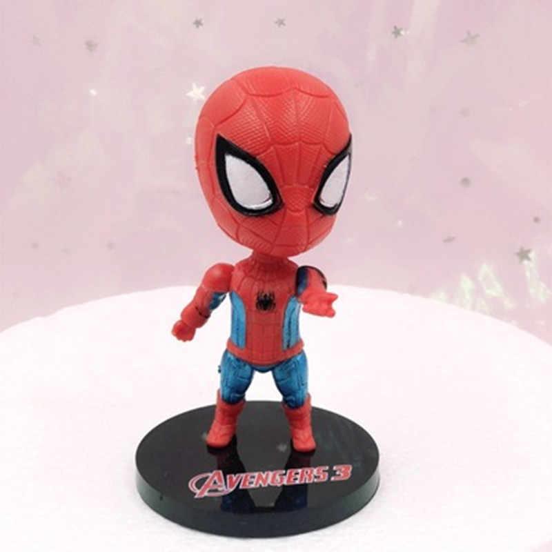 חתיכה אחת Superhero נוקמי סוף המשחק איש ברזל האלק קפטן אמריקה סופרמן spiderm פעולה דמויות מתנת אוסף של ילד צעצועים