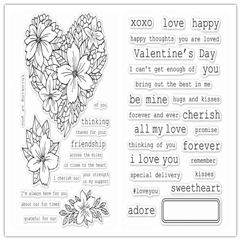 MaGuo Words Clear Stamps Happy Love Congrats for DIY Paper Craft Card Making Decoration or Scrapbooking