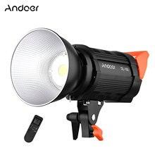 Andoer DL-150 150w cob pode ser escurecido led vídeo luz de foco de vídeo cri 95 + bowens montagem com controle remoto para estúdio de fotografia