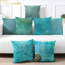 Наволочка nanacoba светильник голубая для подушки Классический