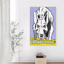 RELIABLI ART Pop Art Animal Painting Abstract Posters Roy Lichtenstein Wall Pictures For Living Room Canvas Painting No Frame(China)