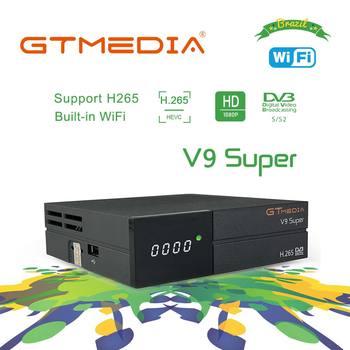 Brazil GTmedia V9 Super Digital TV Satellite Receiver DVB-S2 H.265 HEVC AVS+DRE &Biss key PK Freesat V7 V8 NOVA X96 H96 X96 Mini