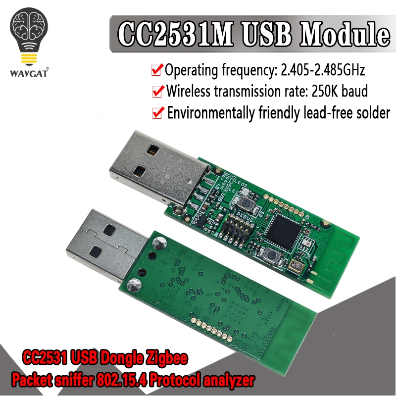 Wireless Zigbee CC2531 Sniffer Bare Board Packet Protocol Analyzer Module USB Interface Dongle Capture Packet Module