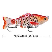 10cm 15.5g 1pcs Wobbler Fishing Lure Sea Pike Fish Lure Swimbait Crankbait Isca Artificial Bait With Hook Fishing Tackle Pesca стоимость
