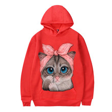 Cat Print Cute Sweatshirt PU27
