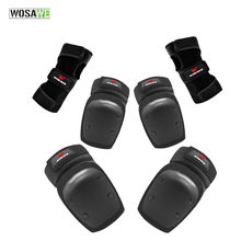 WOSAWE Youth Cycling Roller Skating Elbow Knee pads Wrist Guards Protective Motorcoss Snowboarding MTB Bike protector