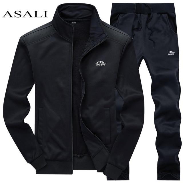 Tracksuits Men Polyester Sweatshirt Sporting Fleece   1