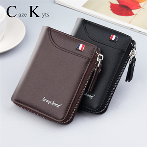 New Men's Genuine Leather Short Wallet Fashion Luxury Brand Coin Purse Driver's License Bag Purse For Men card Mini Wallet(China)