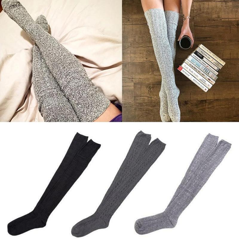 Long Knit Pile Socks Women Over Knee Autumn Winter Fashion Sexy Warm Long Boot Knit Thigh-high Female Socks