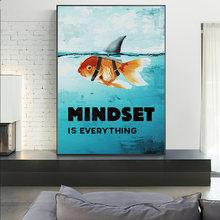Подводный Золотая рыбка воды Акула Рыба мышление холст картины