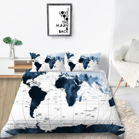 Thumbedding Map Print Bedding Set King Size Geography Duvet Cover Hot Selling Queen Twin Full Single Double Unique Soft Bed Set