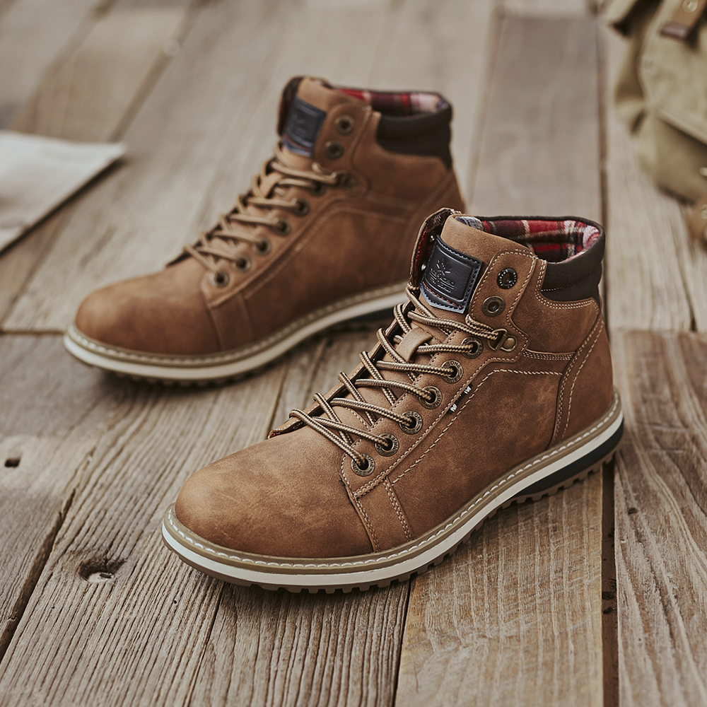 Man Shoes Casual Boots Men 2020 Autumn Fasihon Shoes Men Comfy Lace-Up Men Boots High Quality Leather Outdoor Hiking Men's Boots 6