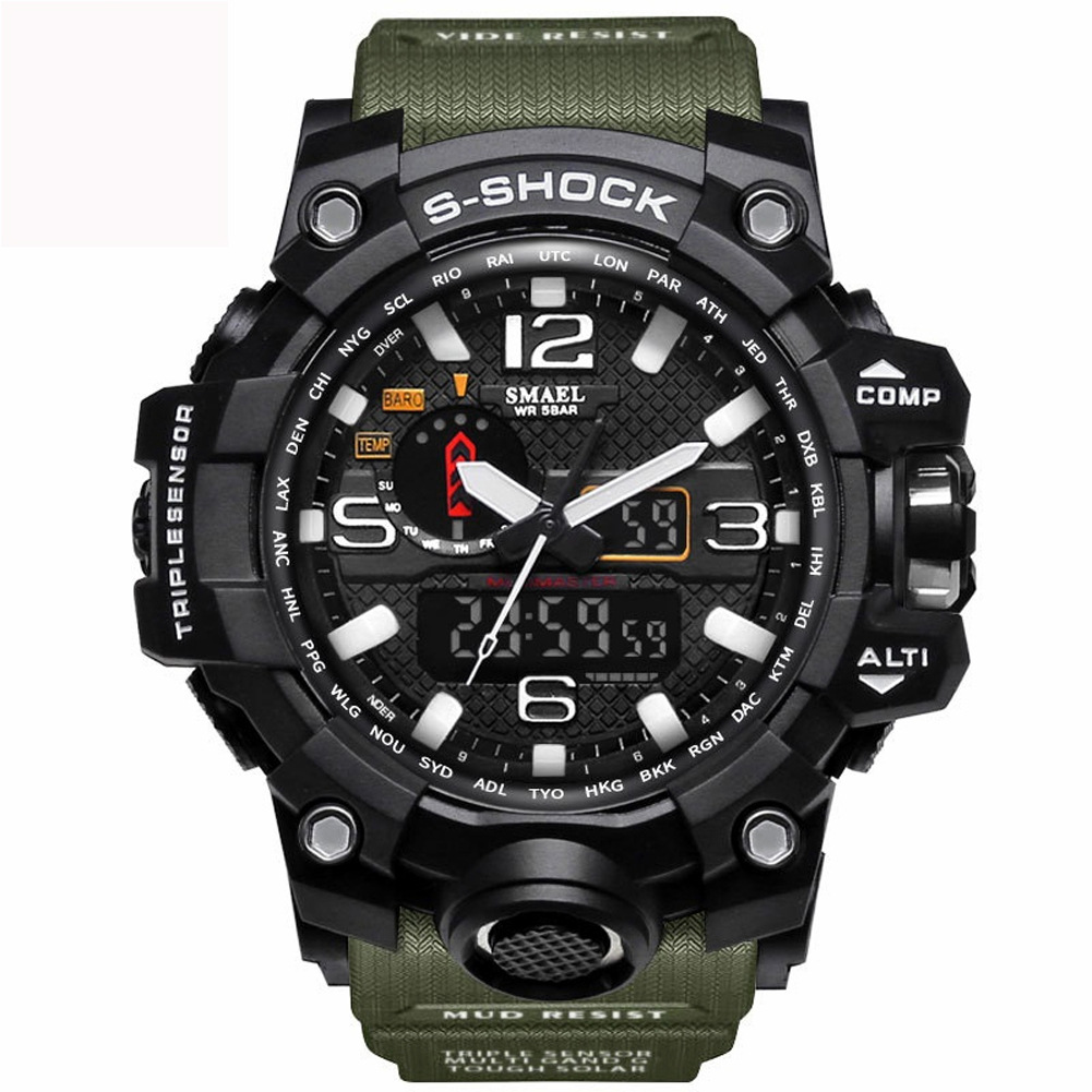 Xsvo Brand Watch Fashion MEN'S Watch LED Military Sports Waterproof Quartz Watch Large Dial Punk Watch
