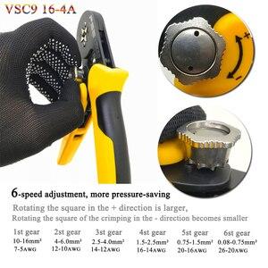 Image 3 - VSC9(hsc8) 10 6A 0.08 10mm2 26 7AWG 6 6 6 6A precisa מתכוונן כיכר צינור תחרה אלומיניום סגסוגת crimping herramientas דה mano
