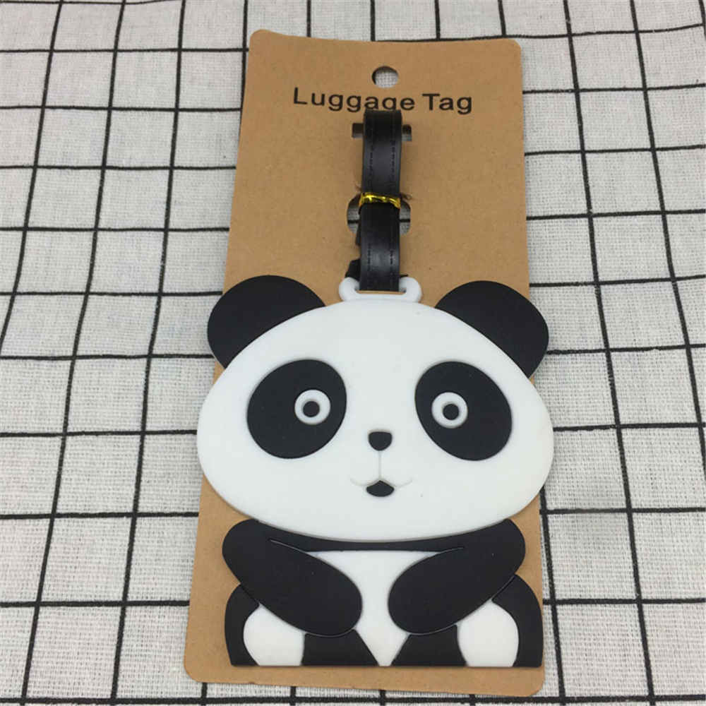 Portable Travel Accessories panda Creative Luggage Tag horse Cartoon Silica Gel Suitcase ID Addres Holder Baggage Boarding Tags in Travel Accessories from Luggage Bags