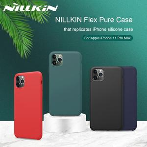 Image 1 - NILLKIN For iPhone 11 XR Case Flex Pure CASE Slim Soft Liquid Silicone Shockproof Phone Case For iPhone X XS 11 Pro MAX Cover
