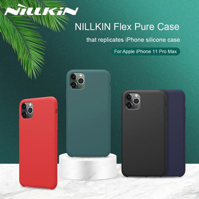 NILLKIN For iPhone 11 XR Case Flex Pure CASE Slim Soft Liquid Silicone Shockproof Phone Case For iPhone X XS 11 Pro MAX Cover