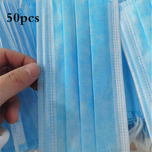 50 pcs Face Mouth Mask Disposable Health Protection 3 Layer masques Non Woven Non n95 Face mask anti dust