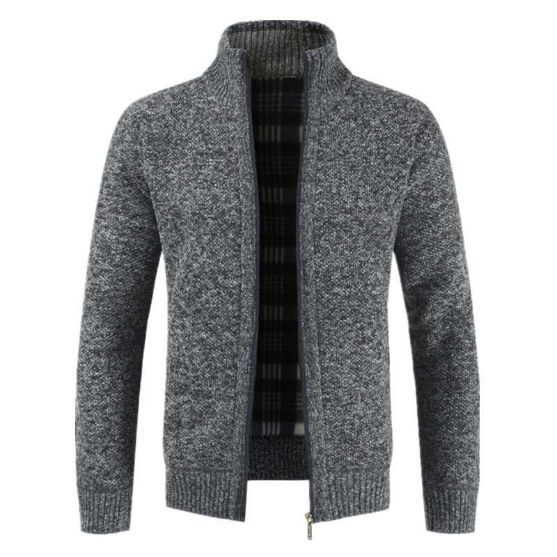 Men Thick Casual Sweater 2019 Autumn Winter New Cardigan Mens Brand Slim Fit Outwear Jacket Warm Fleece Zipper Sweatercoat Male