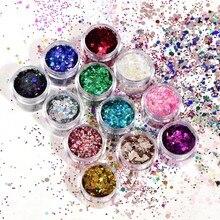 4 conjuntos de diamante lantejoulas sombra rosto corpo lantejoulas glitter à prova dlong água longa duração sombra de olho festa maquiagem cosméticos minúsculos f0324