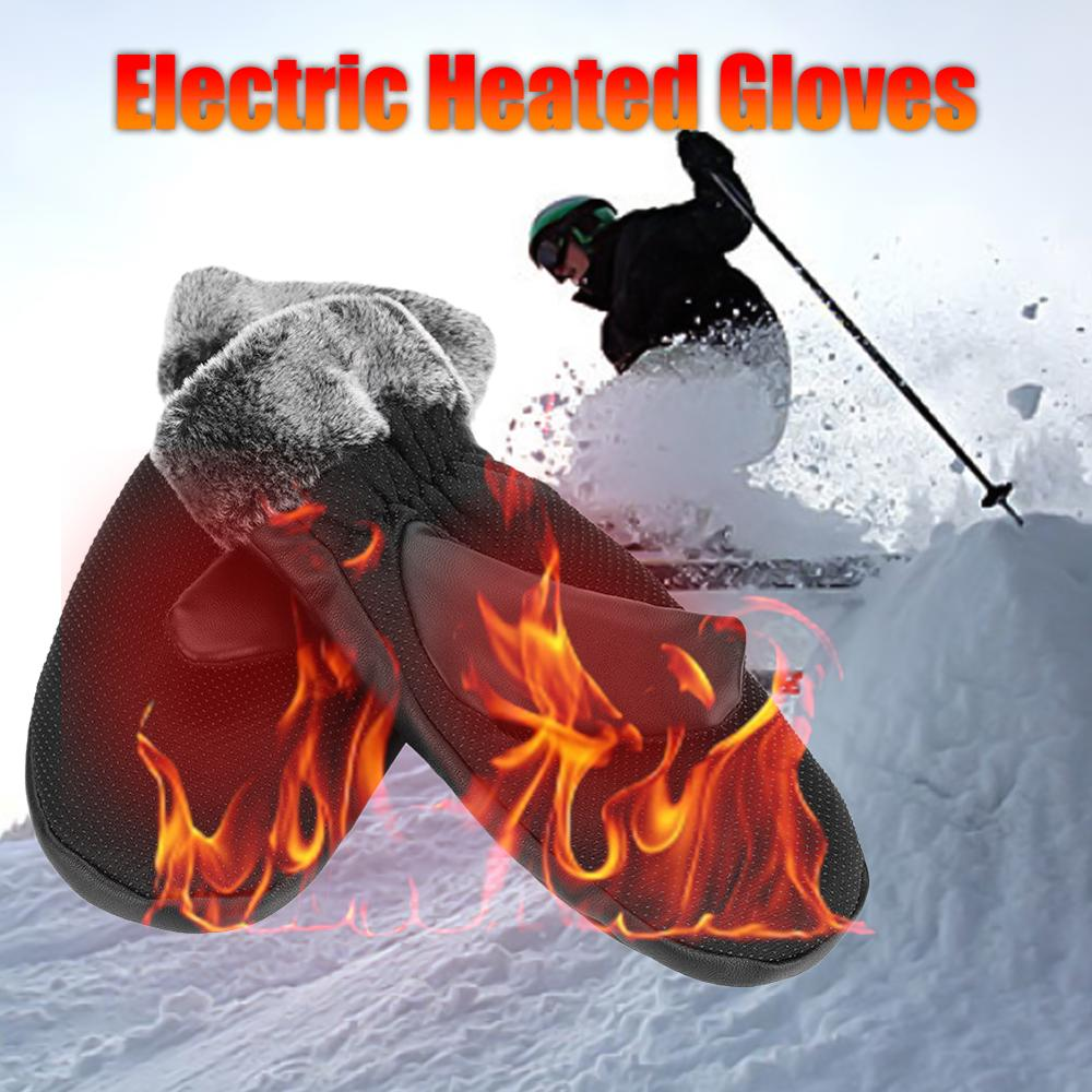 Winter Heated Skiing Gloves Warmer Electric Thermal Gloves For Cycling Motorcycle Bicycle Unisex Charging Battery Heating Gloves