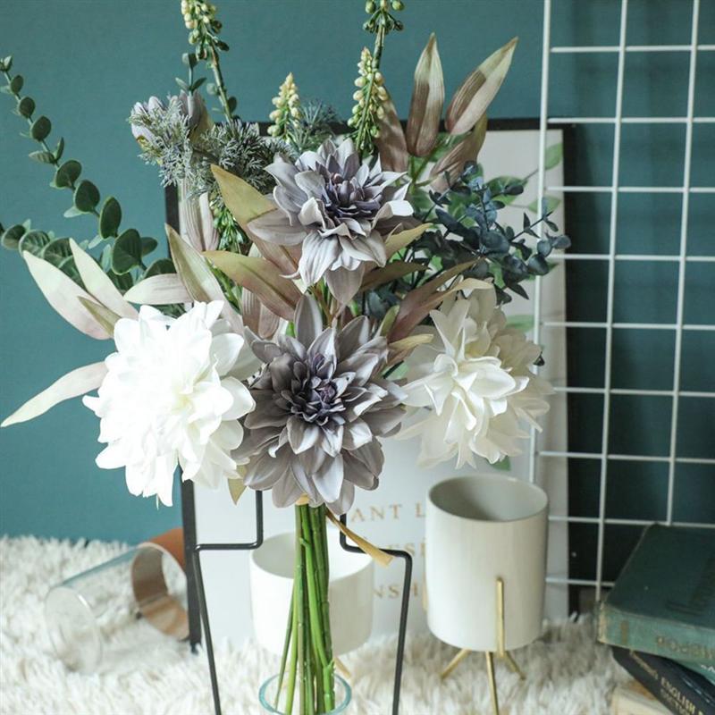 1PC Dahlia Bouquet Simulation fleur Bouquet fleur artificielle mariage fête décoration maison décoratif faux fleur