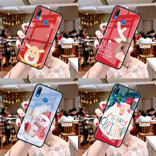 Merry Christmas Tempered Glass For Huawei P10 P30 P Smart P20 Lite