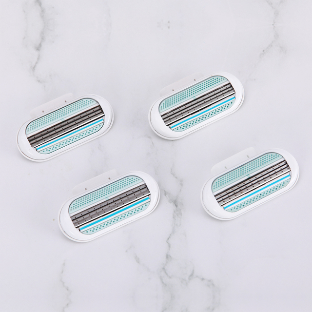 5pc/lot Female Safety Razor Blades Beauty Shaving For Women 3 Layer Blade Shaver Razor Blade Replacement Head For Gillette Venus 3