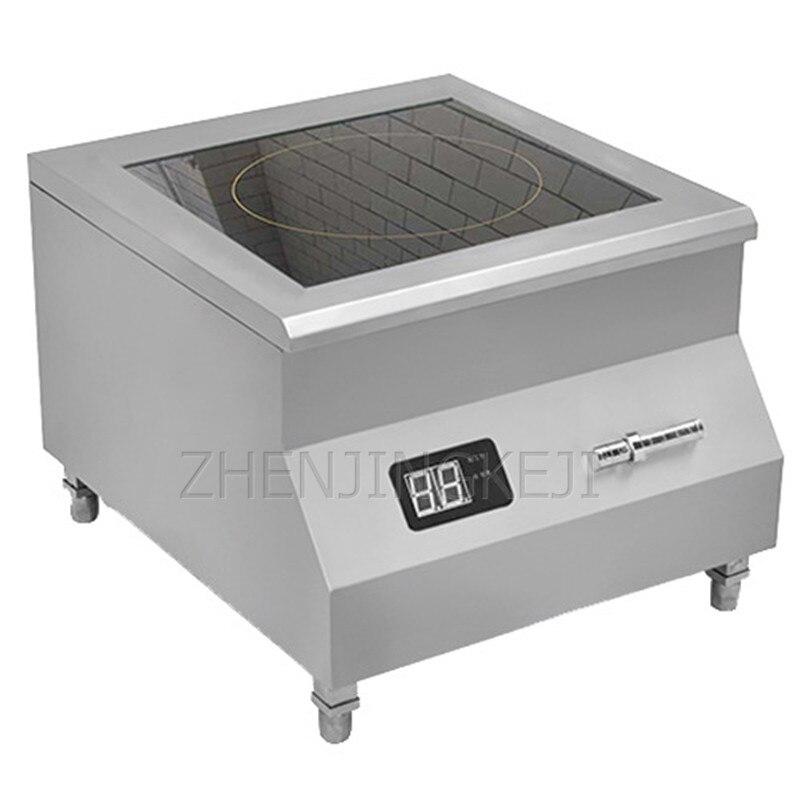 Высокомощная индукционная плита 8 кВт настольная электромагнитная печь для готовки ресторана кухни с плоским очагом Коммерческая печь 3