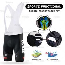 STRAVA יוניסקס רכיבה על אופניים ביב מכנסיים קצרים 2021 קיץ MTB אופני מכנסיים קצרים נשים של גברים של רכיבה על אופניים גרביונים מירוץ ביב Shookproof אופניים מכנסיים