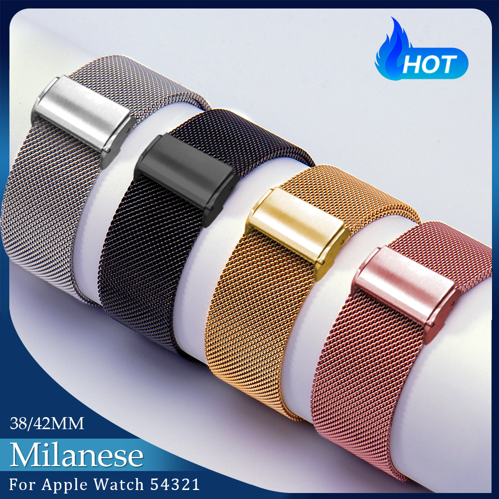 Milanese Loop Stainless Steel Strap For Apple Watch Series 1/2/3/4 42mm 38mm Bracelet Band Iwatch Series 5 40mm 44mm Accessories