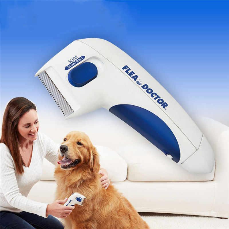 新ペットの猫犬電気ターミネーターブラシ抗除去キルシラミためクリーナー電動ヘッドペットノミ電子シラミ櫛犬