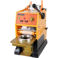 Milk tea sealing machine commercial semi automatic small hand pressed fruit juice soy milk packing cup sealing device