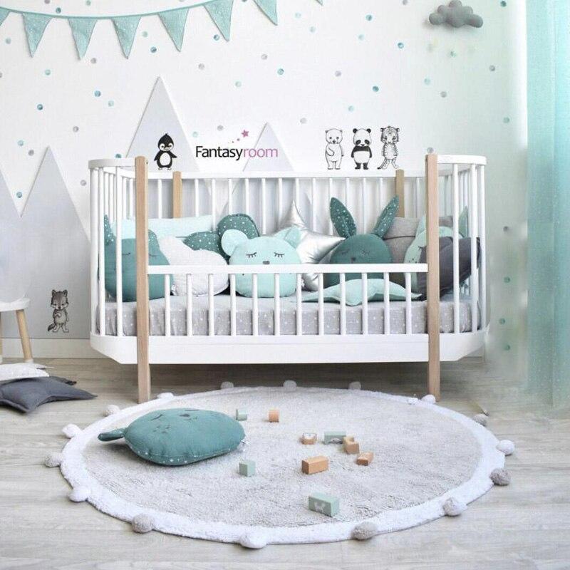 120CM Kids Crawling Mat Baby Game Pad Infant Play carpet Letter Pattern Floor Rug Round Soft Blanket Washable Room Decor DDZ003