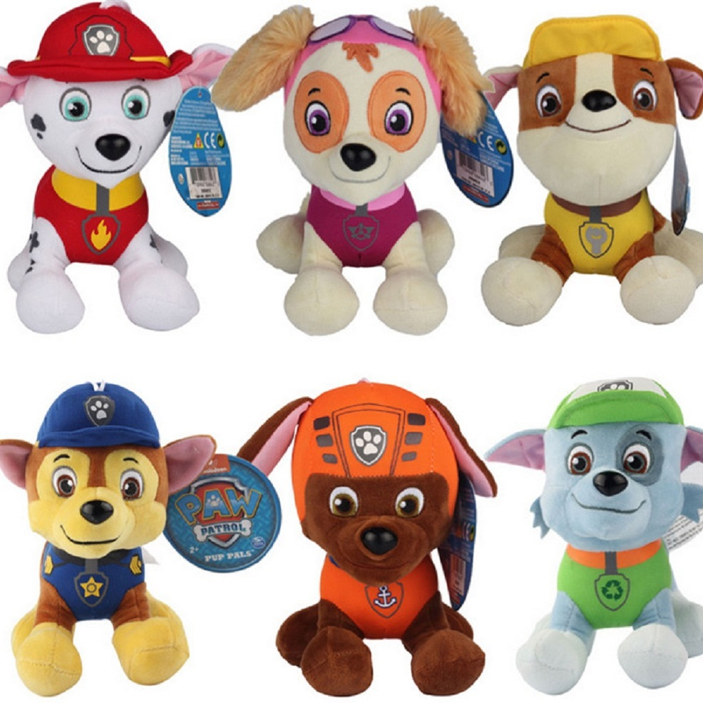 Paw Patrol Toys Plush 20-30cm Cartoon Plush Doll Dog, Children Toy Puppy Dog Patrol Anime Figure Juguetes Patrulla Canina Toy