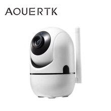 AOUERTK 무선 보안 카메라 자동 추적 모션 감지 720P IP 카메라 와이파이 양방향 오디오 지원 64G 감시