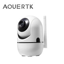 AOUERTK Wireless Securityกล้องติดตามอัตโนมัติการตรวจจับการเคลื่อนไหว720Pกล้องIP WifIสองทางเสียงสนับสนุน64Gการเฝ้าระวัง