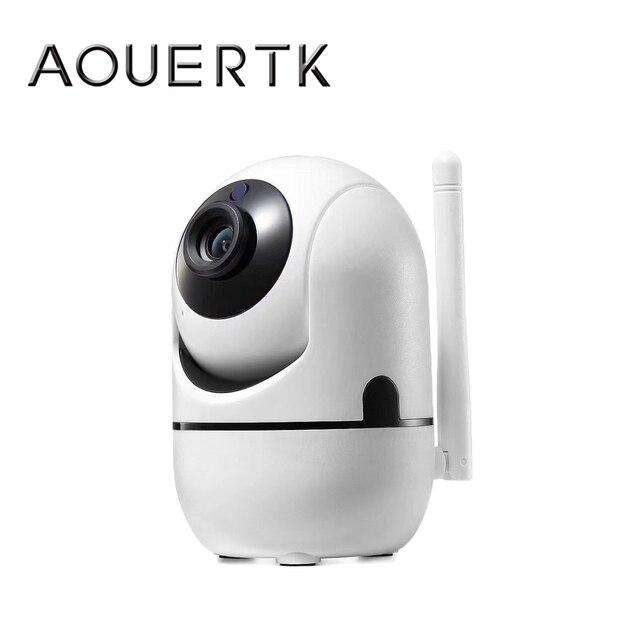 AOUERTK caméra de Surveillance IP WifI hd 720P, dispositif de sécurité sans fil, avec détection de mouvement et Audio bidirectionnel, avec détection automatique