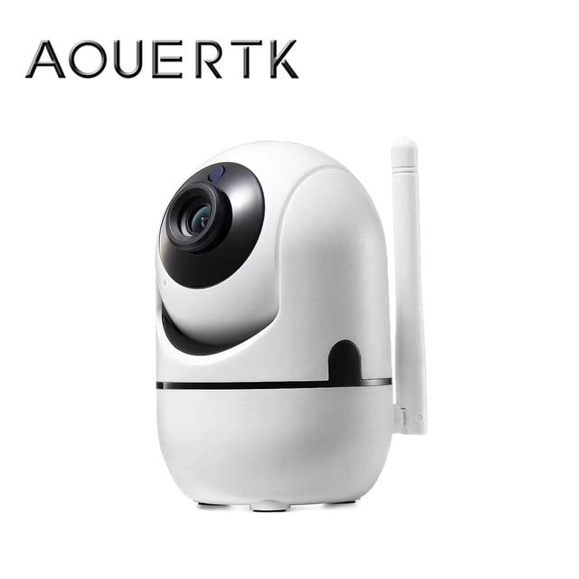 Aouertkワイヤレスセキュリティカメラ自動追尾モーション検出720 1080p ipカメラwifi双方向オーディオサポート64グラム監視