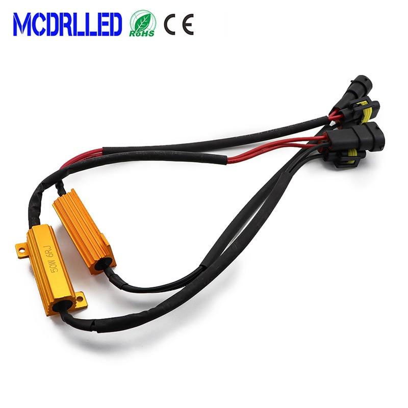 2 pièces pour phares de voiture, phare de voiture LED Canbus, résistance à la charge, 9005 9006 H11 H8, contrôleur, résistance, avertissement 12V